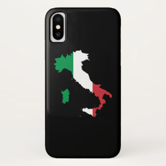 Capa Para iPhone X Italia em cores da bandeira