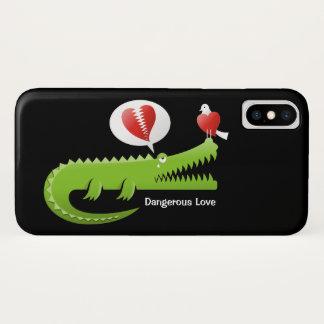 Capa Para iPhone X Jacaré no amor