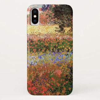 Capa Para iPhone X Jardim de florescência de Van Gogh, belas artes