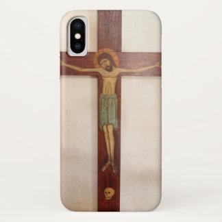 Capa Para iPhone X Jesus na arte transversal
