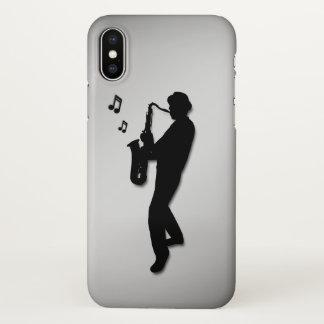 Capa Para iPhone X Jogador de saxofone