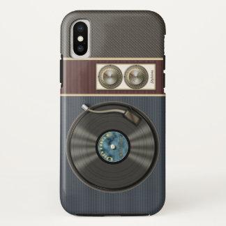 Capa Para iPhone X Jogador gravado engraçado de vinil do vintage
