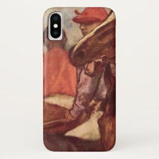 Capa Para iPhone X Jóqueis por Edgar Degas, arte da corrida de