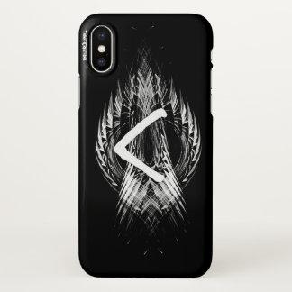 CAPA PARA iPhone X ☼KENAZ - RUNE DA REGENERAÇÃO & DO FIRE☼