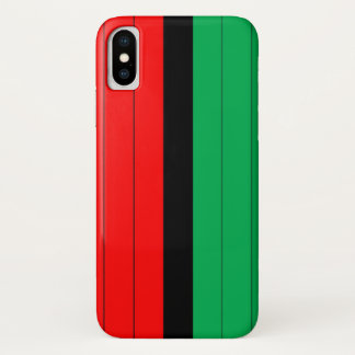 Capa Para iPhone X Kwanzaa colore o teste padrão verde preto vermelho