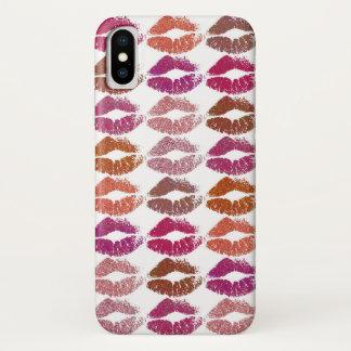 Capa Para iPhone X Lábios coloridos à moda #12