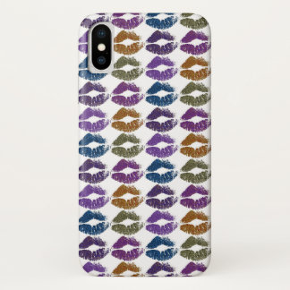 Capa Para iPhone X Lábios coloridos à moda #3