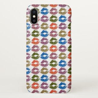 Capa Para iPhone X Lábios coloridos à moda #8