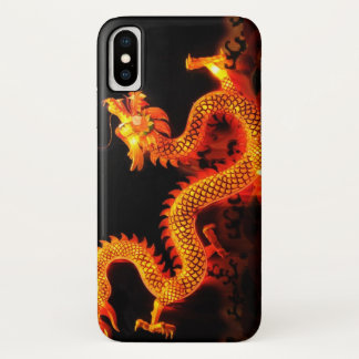 Capa Para iPhone X Lanterna chinesa do dragão