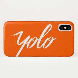 Capa Para iPhone X Laranja de YOLO