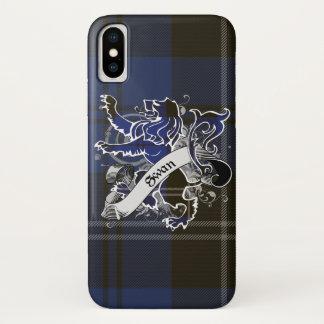 Capa Para iPhone X Leão do Tartan da cisne