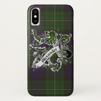 Capa Para iPhone X Leão do Tartan de Alexander