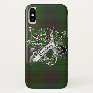 Capa Para iPhone X Leão do Tartan de Davidson