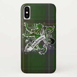 Capa Para iPhone X Leão do Tartan de Henderson