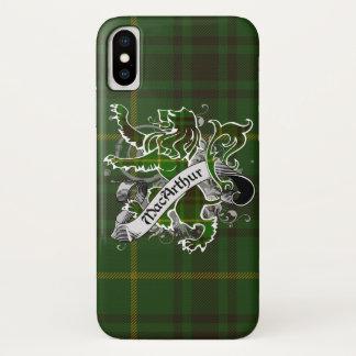 Capa Para iPhone X Leão do Tartan de MacArthur