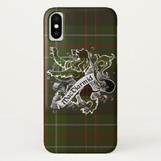 Capa Para iPhone X Leão do Tartan de MacDiarmid