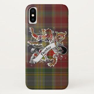 Capa Para iPhone X Leão do Tartan do caçador