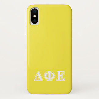 Capa Para iPhone X Letras brancas e amarelas do épsilon da phi do