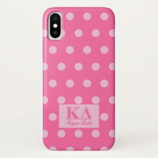 Capa Para iPhone X Letras do rosa do delta do Kappa