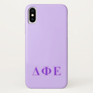 Capa Para iPhone X Letras do roxo e da lavanda do épsilon da phi do
