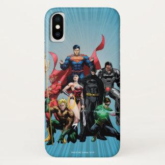 Capa Para iPhone X Liga de justiça - grupo 2