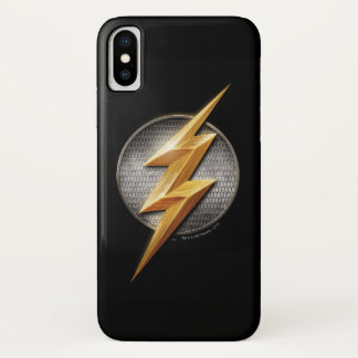 Capa Para iPhone X Liga de justiça   o símbolo metálico instantâneo