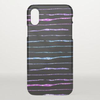 Capa Para iPhone X Linhas loucas teste padrão do brilho colorido