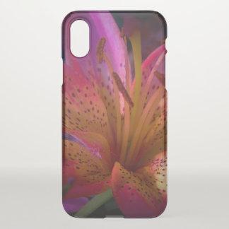 Capa Para iPhone X Lírio cor-de-rosa - confusão bonita