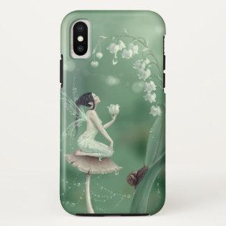 Capa Para iPhone X Lírio da fada da flor do vale