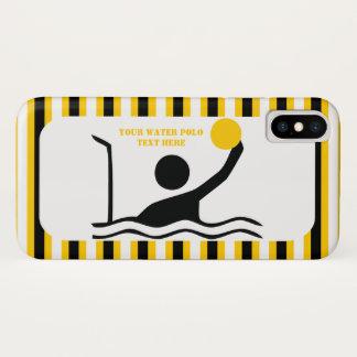 Capa Para iPhone X Listras do amarelo da silhueta do preto do jogador