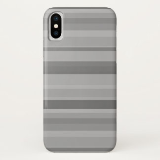 Capa Para iPhone X Listras horizontais cinzentas