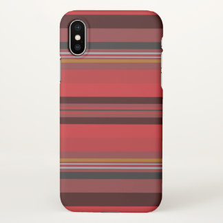 Capa Para iPhone X Listras - horizonte vermelho