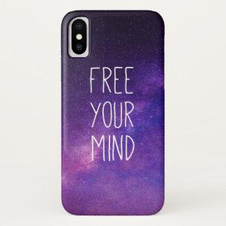 """Capa Para iPhone X """"Livre céu nocturno do azul das citações da sua"""