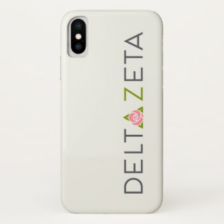 Capa Para iPhone X Logotipo preliminar do Zeta do delta
