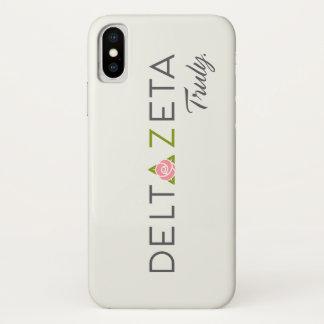 Capa Para iPhone X Logotipo preliminar do Zeta do delta com promessa