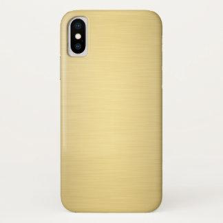 Capa Para iPhone X Luxo metálico do ouro elegante