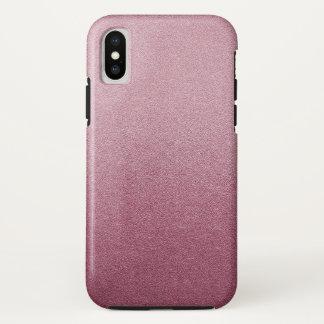 Capa Para iPhone X Luz visual de Ombre da textura da areia do brilho