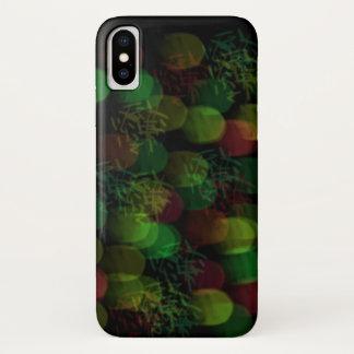 Capa Para iPhone X Luzes de néon e faísca verdes e vermelhas