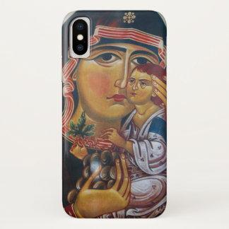 Capa Para iPhone X Mãe Mary e arte de Jesus
