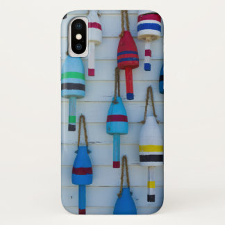 Capa Para iPhone X Maine, Stonington, bóias decorativas da lagosta
