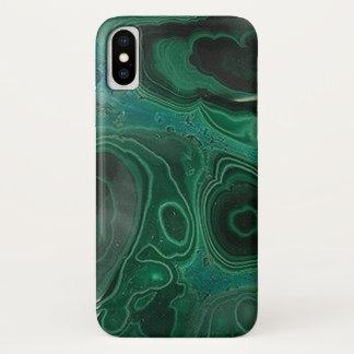 Capa Para iPhone X Malaquite Geode