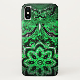 Capa Para iPhone X Malaquite vívida caixa marmoreada do iPhone X da