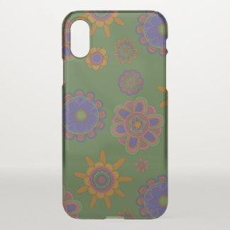 Capa Para iPhone X Malva & flores do ouro
