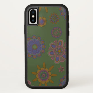 Capa Para iPhone X Malva & flores Xtreme resistente do ouro