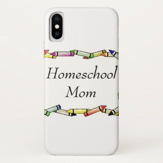 Capa Para iPhone X Mamã de Homeschool