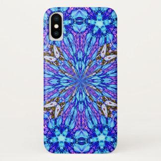 Capa Para iPhone X Mandala de cristal feericamente mágica do zen
