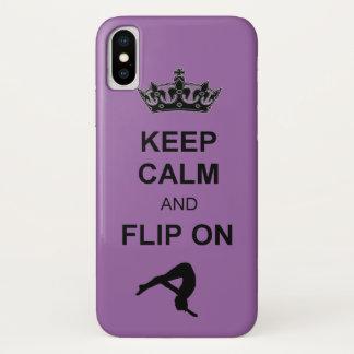 Capa Para iPhone X Mantenha a calma e lance-a no caso de caída do