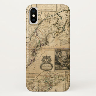 Capa Para iPhone X Mapa de America do Norte (colônias britânicas)