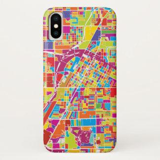 Capa Para iPhone X Mapa de Las Vegas colorido, Nevada