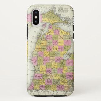 Capa Para iPhone X Mapa novo de Michigan 2